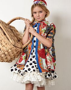 Editorial: THE CLASSIC BEAUTY. Photo Angela Improta. Styled by Sabrina Mellace. Dolce&Gabbana cape, dress and hairband, Monnalisa underskirt. #DolceGabbana #cape #dress #hairband #Monnalisa #underskirt @dolcegabbana @Monnalisa  #kidswear #kidsfashion #fashion #childrenswear #look #style #ideas