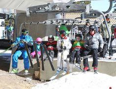Gwen Stefani and Gavin Rossdale take their boys Kingston and Zuma skiing in Mammoth Lakes, California