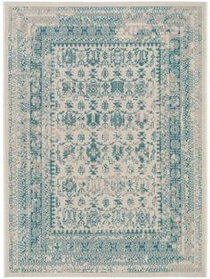 teppich antique beigetrkis 160x230 cm stube - Wohnzimmer Teppich Turkis