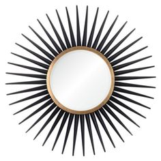 Rey Mirror - Black from Z Gallerie comes in silver and gold. This s striking. Drats. Only on line. Pain to return.