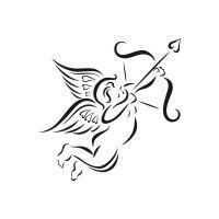 Cupido Stencil pour Tattoo - Tatouage éphémère Amour