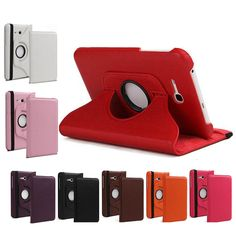 360 Rotating Leather Stand Case Cover for Samsung Galaxy Tab 3 Lite 7.0 T110 T111 SM-T110 7 INCH Tablet #Affiliate