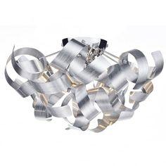 Dar Lighting Rawley Flush Ceiling Light in Brushed Aluminium - Fitting & Style from Dusk Lighting UK
