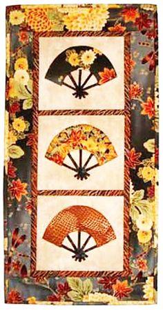 FAN QUILT............PC.............Quilt Pattern - Castilleja Cotton - Japanese Fans