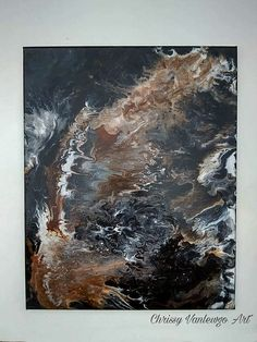 fluid painting poured paint art Abstract by ChrissyVanlewgoArt