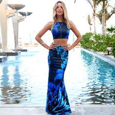 Blue #pretty #dress #summer