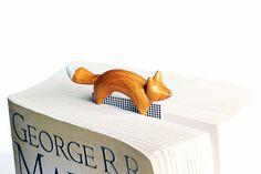 Fox bookmark, golden polymer clay forest animal, fun gift, cute kawaii fox on Etsy, $26.80