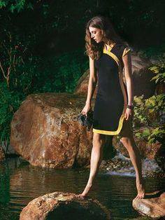 Schnittmuster: Etuikleid - Kontrastblende - Sommerkleider - Kleider - Damen - burda style: