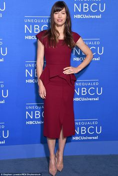 Stunner:Jessica Biel glowed when at the NBC Universal Upfronts in NYC on Monday...