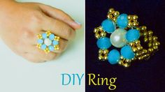 DIY easy and quick own ring, How to make finger ring, jewelry. Learn how to make quick and easy finger ring with our step by step ring making tutorials. You can make your own beautiful ring at home with beads. its very easy to make a ring, Beads art Wire Jewelry, Jewelry Crafts, Beaded Jewelry, Jewelry Rings, Jewelery, Diy Beaded Rings, Diy Rings, How To Make Rings, Wire Wrapped Earrings