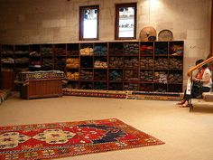 Wool Storage Room    At the carpet weaving center we visited on our trip to Cappadocia in Turkey this past July. All the wool dyes are made from natural sources of flowers, berries, leaves, and/or bark.