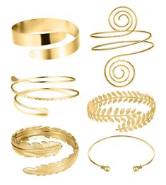 RIOSO 6 Pieces Arm Cuff Upper Arm Band Cuff Bracelet Bangle for Women Silver Gold Adjustable Armband Set (This is an affiliate pin) #nicebracelets #braceletsforwomen Bangle Set, Bracelet Set, Upper Arm Cuffs, Arm Bracelets, Silver, Gold, Jewelry, Lore Olympus, Persephone