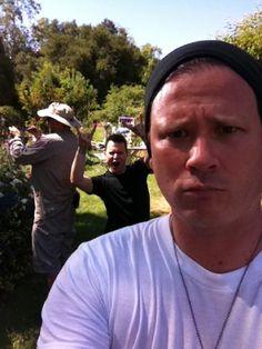 Tom Delong and a photo bombing Mark Hoppus. =]