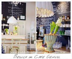 Ein Dekoherzal in den Bergen: BESUCH IM CAFE GENUSS Bergen, Table Decorations, Furniture, Home Decor, Decoration Home, Home Furnishings, Interior Design, Home Interior Design, Tropical Furniture