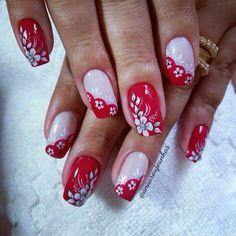 Nail Tips, Nail Hacks, Almond Acrylic Nails, Flower Nail Art, Fabulous Nails, Spring Nails, Valentines Day, Nail Designs, Yuri