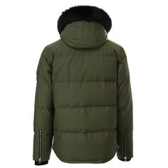 Moose Knuckles Men's 3Q Jacket MK2228M3Q-D Olive w Black Fur at Amazon Men's Clothing store: