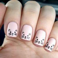 Einzigartige Cat Nails Designs Fur Sie Acrylicnails Acrylnagel Fingernagel Gelnails Gelnagel Nagel Cat Nail Designs Nail Art For Kids Minimalist Nails