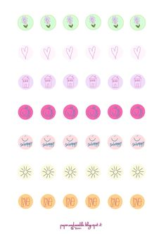 Paper and Needle: New free stickers for our planners