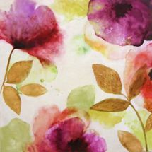 Floral Watercolour Printed Canvas