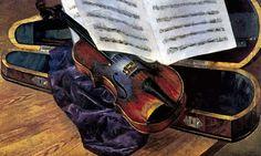 http://www.artsait.ru/foto.php?art=p/petrvodk/img/18 Петров-Водкин Кузьма Сергеевич. «Скрипка», 1916 г. Холст, масло 88 x 54 Одесский художественный музей. Одесса.