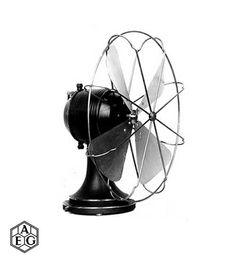 Ventilador AEG. Peter Behrens. 1908