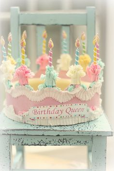 Pretty vintage inspired pastel birthday crown