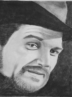 Waylon Jennings, Pencil Portrait