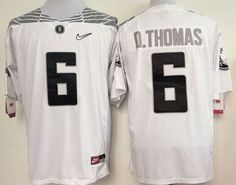"""$25.88 at """"MaryJersey""""(maryjerseyelway@gmail.com) Ducks 6 De'Anthony Thomas White Diamond Quest Stitched NCAA Jersey"""