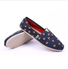 Women's Toms Classic Anchor Painting Shoes In Blue