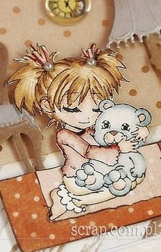 stempelek dziewczynka z misiem  http://www.hurt.scrap.com.pl/pojedynczy-stempel-gumowy-dziewczynka-z-misiem.html