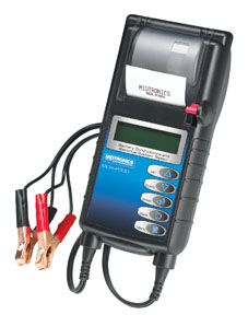 • Test discharged batteries  • Bad Cell Detection  • Captures Starting / Charging System voltage  • Test Regular, AGM and Gel Batteries  • Languages – English, Spanish, French  • Prints Test Results with Built-in Printer