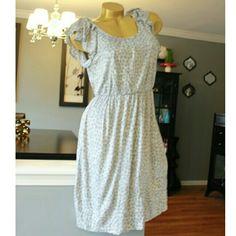 NWT LOFT animal print dress Ruffle sleeve Elastic waist  Ann Taylor Loft LOFT Dresses