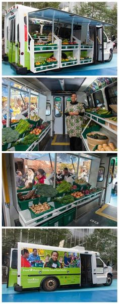 Bus Converted into Mobile Food Market Brings Fresh Produce To Low-Income Neighbourhoods #mobilemarketingtruck
