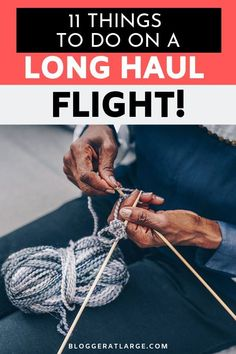 With the world's longest flights now pushing up to 20 hours, we seriously need some help with what to do on them to pass the hours in the sky!  This post covers 5 things I must take on a long flight to get comfy PLUS 11 great ideas to pass the time.  #longhaulflight #longflight #traveltips