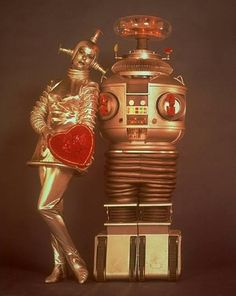 "Valentines Day publicity photo? Verda the android and beloved B9, the robot in Lost in Space: ""The Android Machine"", first aired 26 October 1966."