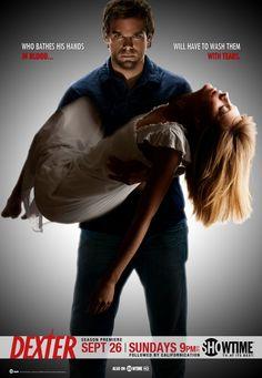 Dexter carrying Rita's dead body season 4 finale