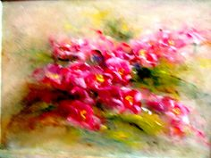 oil painting on canvas (60/50) -to sale abstract floral painting 2