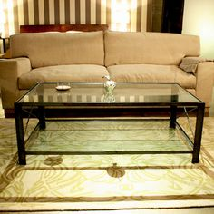 Modern Iron and Glass Coffee Table  Sustainable by robrray on Etsy, $695.00