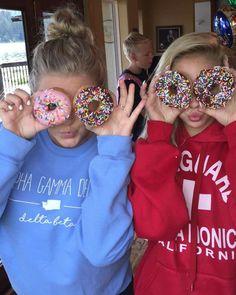 Lena and Kara and donuts