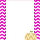 Orange+and+Pink+Chevron+Binder+Covers+with+apple+graphics....