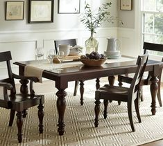 PB Lawton Extending Dining Table. Extends via leaves in the middle, not on the ends.