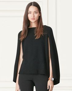 Cashmere Sweater Cape - Collection Apparel Crewnecks & Tanks - RalphLauren.com