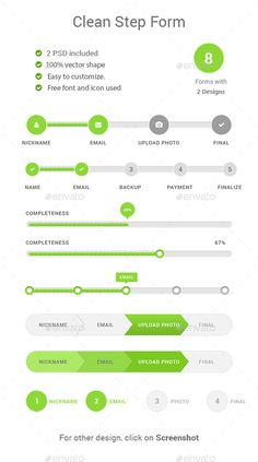 Step Forms Web Template PSD. Download here…