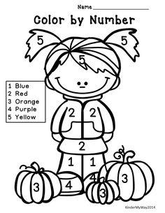 Kindergarten Math Printables | Fall Math Activities