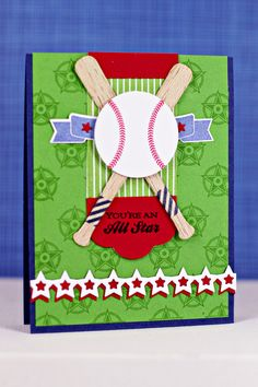 You're An All Star Card by Erin Lincoln for Papertrey Ink (April 2013)