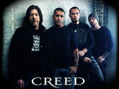 ♥ Creed ♥. (L-R) Drummer - Scott Phillips, Lead Vocalist - Scott Stapp, Guitarist and Vocalist - Mark Tremonti, Bassist - Brian Marshall.