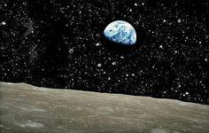 Esta sería la impresionante vista de la Tierra desde la luna.