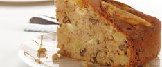 ΚΕΙΚ ΜΕ ΜΗΛΑ ΚΑΙ ΚΑΡΥΔΙΑ Apple Deserts, Greek Desserts, Angel Cake, Stevia, Cake Pops, Banana Bread, Cake Recipes, Cooking Recipes, Sweets