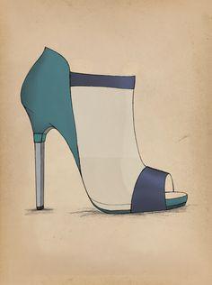Heel Design ... on Behance Guillaume Bergen Fashion Heel Design