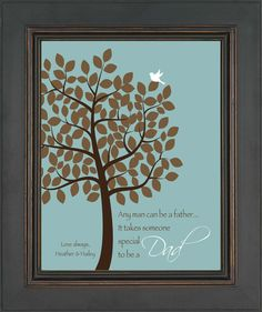 Fathers Day gift - Gift for DAD - Personalized print - Gift from kids -Birthday Gift for Dad - Wording and colors can be changed - via Etsy Kids Birthday Gifts, Dad Birthday, Daddy Gifts, Gifts For Dad, Thumbprint Tree, Perfect Gift For Dad, Daddy Day, Families Are Forever, Different Holidays